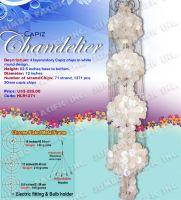 Four Layer Capiz Chandelier