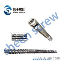 Sell pvc counter-rotating twin screw and cylinder/barrel for extruder