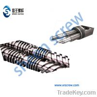 Sell MP, PMMA, PET, PBT, PPS, MPPO conical twin barrelsand screws