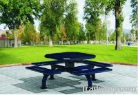 offer patio furniture finished in steel