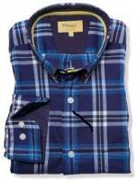 Mens 100% Cotton Plaid Fashion Shirts