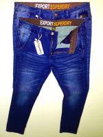 Knit Denim Pants Five Pocket Button Hot Sales / Cotton Brand Washed Jeans Pant Factory