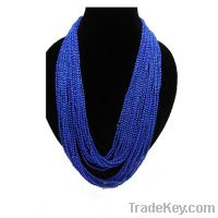 Sell Fashion handmade long sea blue necklaces jewelry