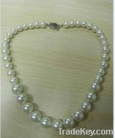 Sell Cheap Plastic Beads Pearl Necklace with Special Clip