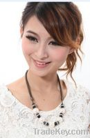 Sell Elegant Freshwater Pearl & Black Crystal Lady Necklaces Jewelry