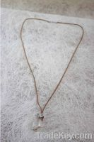 Sell Crystal pendent necklace with leather chain
