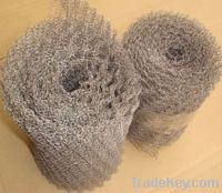 Sell copper/stainless steel knitted filter mesh, gas liquid filter mesh