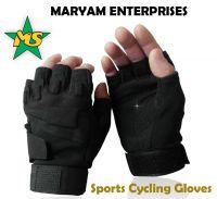 Fingerless Cycling Gloves Outdoor Sports Light Gloves, Black