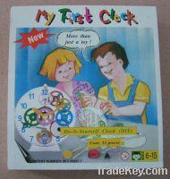 Sell Assembly toys clock DIY Clock  for childeren