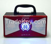 Portable Wooden Box Radio/USB/TF Card Speaker