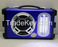 Portable Camp/Outdoor Speaker with Micphone, LED Light, FM Radio, support USB/Micro SD mp3 music play