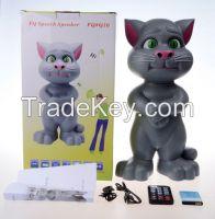 Talking Tom Cat Speaker with Recording/USB/TF/FM Radio/Remote Control