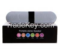 New Wireless Pill Bluetooth Speaker with LED display, disco light, FM Radio, USB and TF card slot