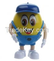 Novelty Mini Egg Bean Cartoon Toy Shape USB/TF/FM Radio Speaker