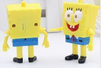 YL-k177 Spongebob shape LED keychain with sound