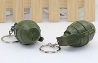 YL-k167 bomb shape LED keychain with sound