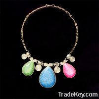 Sell fashion colorful resin pendant necklace
