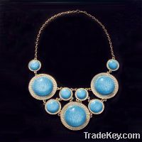 Sell fashion blue resin pendant necklace