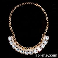 Sell fashion crystal and glass necklace 1163