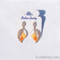 New fashion leafed earrings 004