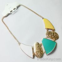 Sell new colorful painting necklace 172