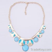 Sell light blue resin pendant necklace 182