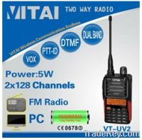 Sell VT-UV2 128Channels Dual Band hands free walkie talkie