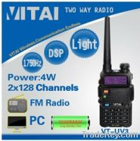 Sell VITAI VT-UV3 Dual Band Mobile Walkie Talkie with FM Radio