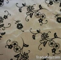 Sell Organza Fabric with Flock Pattern for wedding and gift packing