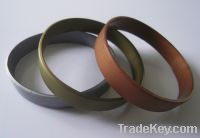 Sell Silicone bracelet in sliver, gold and bronze color