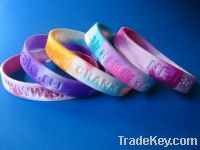 Sell Factory price mixed-color silicone bracelet