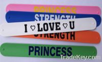 Sell Promotion silicone slap band, snap band