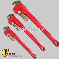 Non sparking Pipe Wrench, Aluminum Alloy Handle