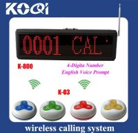 Sell Wireless Bell System K-800+O3-Y with 3-key call button and display