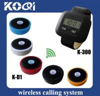 Wireless Waiters Caller System K-300+D1-yellow for restaurant hotel service