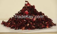 Dried Red Hibiscus Flower