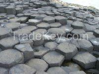 Basalt columns , basalt gravel, basalt paving