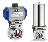 Sell  Pneumatic Operated Metal Butterfly Valve