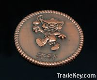 Sell promotion 2012 wholesale copper blank souvenir coin