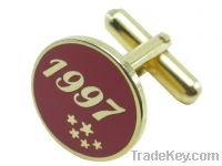 Sell 012 Fashionable Gold-plated Agated Stainless Steel Cufflinks