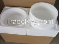 Two-sided bevelling 99.9% quartz singing bowl made in china