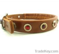 Sell crystal leather collars for dog