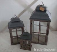 Sell antique shabby wooden metal garden lantern lamp