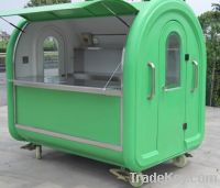 Stainless Steel Outdoor Mobile Hot Food Serving Vendor