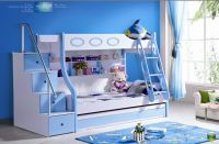 Sell Children Triple Bunk Beds with Stairs and Drawer