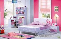 Sell MDF Pink Lovely Children Bedroom Furniture Set