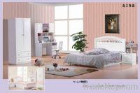 Sell MDF White / Pink Modern Girl Children Bedroom Furniture