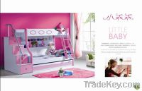 Sell 3pcs MDF Panels Children Bunk Bed with Stairs and Drawer