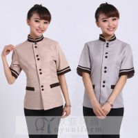 Retail Short Sleeves Cleaner Working Clothes