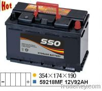 Sell 59218MF 12v 92ah car starting battery